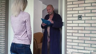 Crazy old fart gets to fuck a pretty young comprehensive and that girl is so sweet