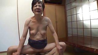 Nippon concupiscent granny amateur video