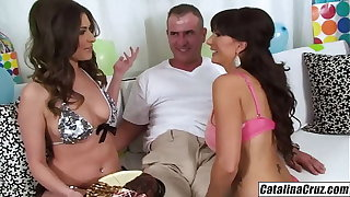 Catalina Cruz I brought home Victoria Lawson for hubbys birthday 3some