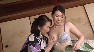 Aroused Japanese matures are set to share tribadic moments on cam