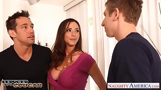 Two young guys dear one super sexy mature ecumenical with fake boobs Ariella Ferrera