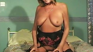 Lovely babe Kirsty pleases a big dick with her mouth added to pussy
