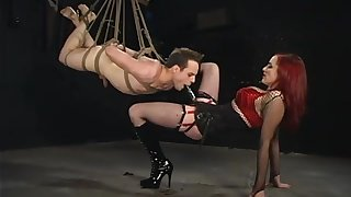 Extreme femdom BDSM with imprecise anal coupled with deepthroat