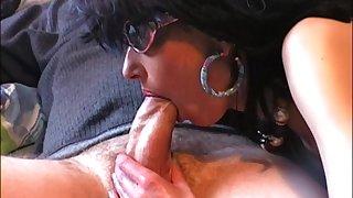 Very hot milf seizure blowjob handjob and cum