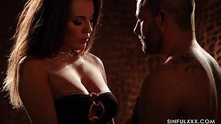 Hypnotizing despondent video featuring Vanessa Decker roughly the dim orientation