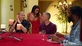 Cock vitalized wife Luna Star fucked away from two dudes if ever