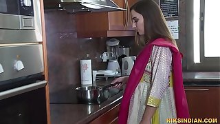 Newly married Indian bhabhi strips her salwar and loses her virginity relative to devar ji