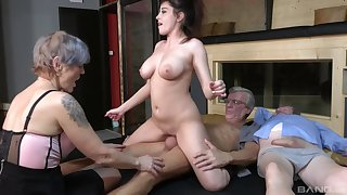 Nasty group sex party with second-rate sluts Yvonne and Lucie Jenilova