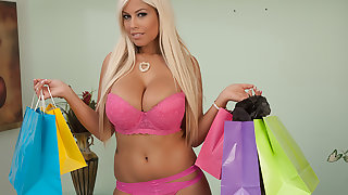 Bridgette B. buys lingerie to get fucked close to by her Sugar-coat Pa