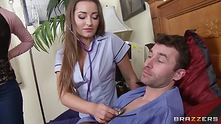 Fairy babes Cherie Deville and Dani Daniels fucked by a guy